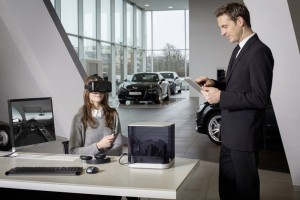 VR-Brille im Audi Showroom