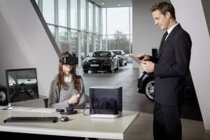 VR-Brille im Audi Showroom